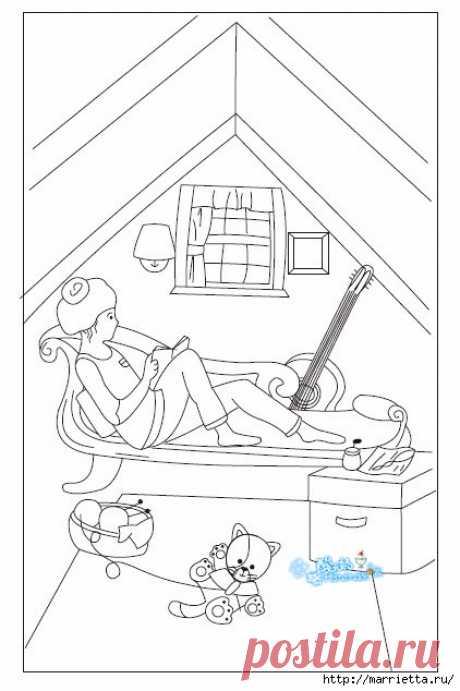 Лоскутное панно в детскую комнату. Шаблоны