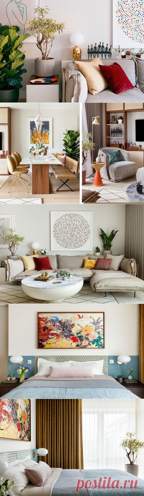 〚 Яркая современная квартира с летним настроением в Лондоне 〛 ◾ Фото ◾Идеи◾ Дизайн