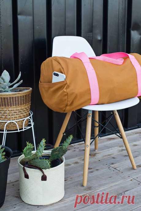 Большая спортивная сумка без выкройки: мастер-класс — HandMade