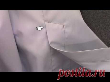 How to sew a Back Vent of a Shirt