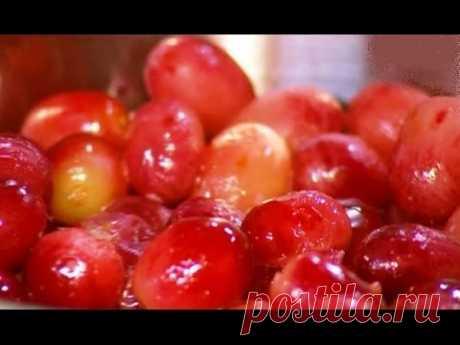 Желе из винограда. Джем из винограда. Маринованный виноград гроздьями