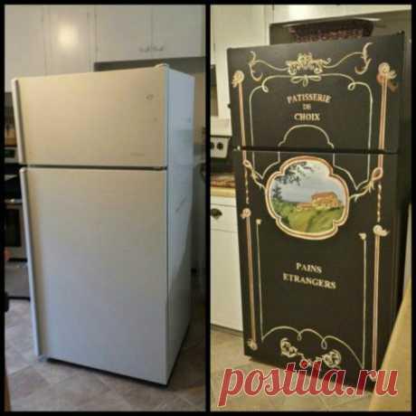 16 замечательных идей, которые помогут преобразить старый холодильник