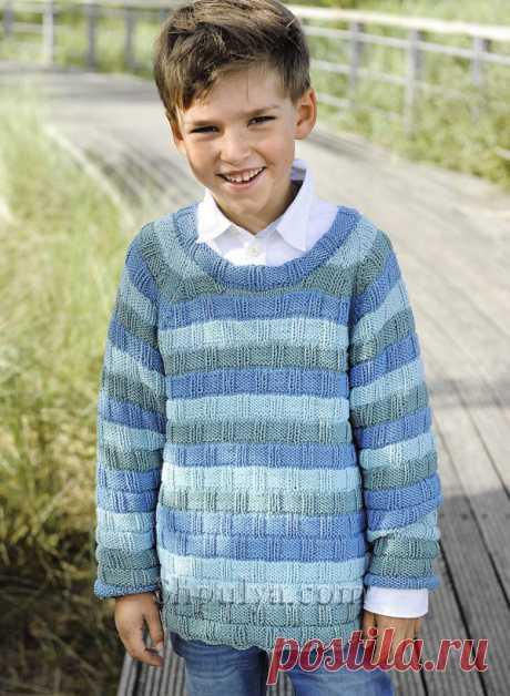 Пуловер реглан в полоску для мальчика - SHPULYA.com