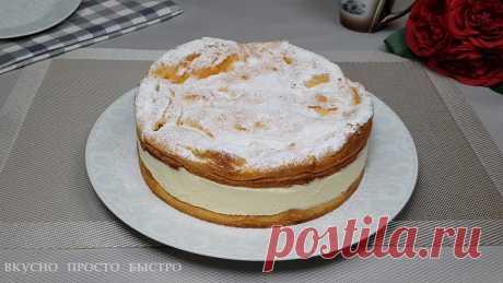 Торт Карпатка. Простой в приготовлении пирог с нежным заварным кремом   Вкусно Просто Быстро   Яндекс Дзен