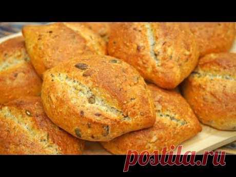 Хлеб теперь не покупаем! Полезные мультизерновые булочки | Кулинарим с Таней