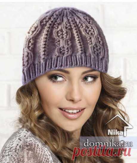 Вязаные шапки с узорами I женские шапки спицами схемы узоров