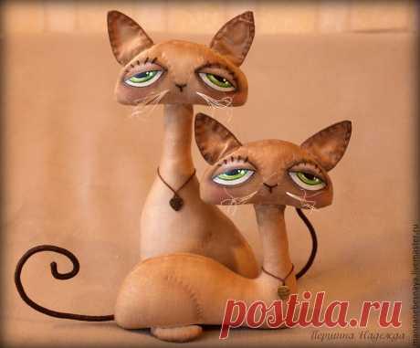 Шьём кофейных чудо котиков