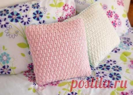 Узор для вязаных декоративных подушек