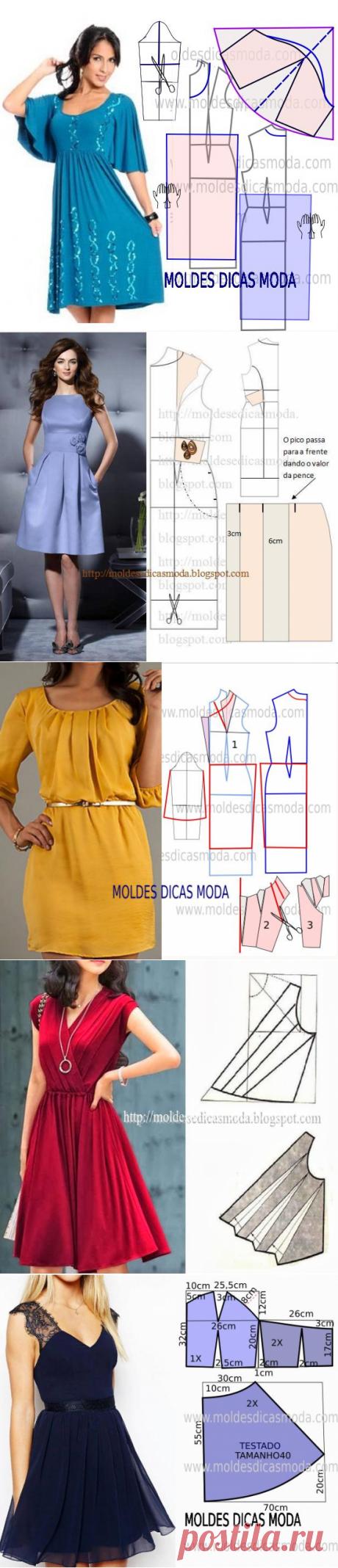 Простые выкройки и моделирование летних платьев №8