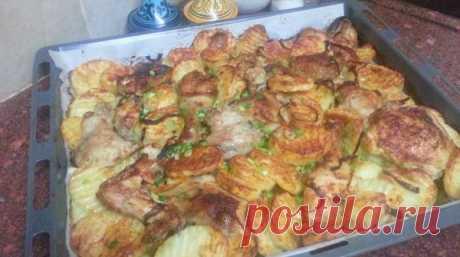 Как приготовить курицу с картофелем в шашлычном стиле