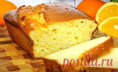 Апельсиновый кекс с пропиткой | Рецепты на FooDee.top