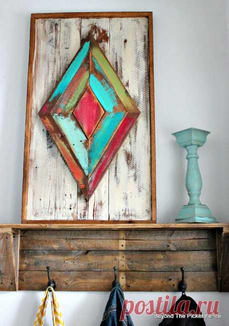 Beyond The частокол: мелиорированных древесина искусство