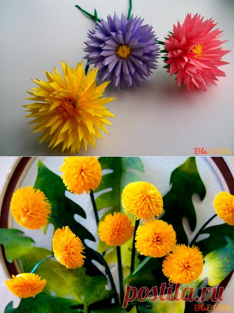 Цветы из гофрированной бумаги   HandMade блог