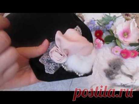 Как сделать розу из ткани от Ксении