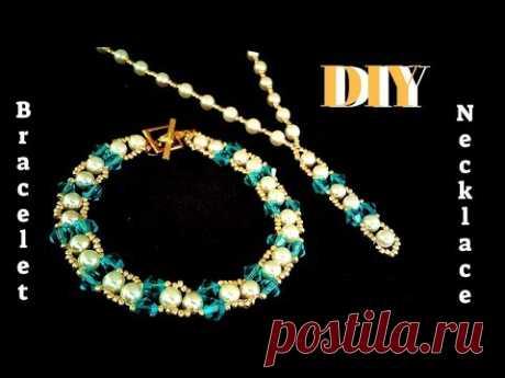 beaded bracelet. beaded necklace. jewelry making.