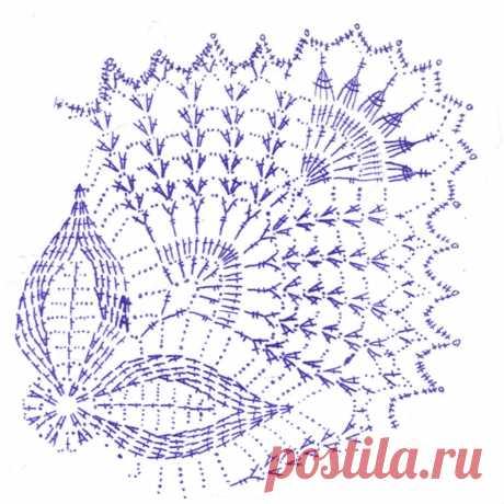 схемы вязания квадрата крючком - 47 тыс. картинок. Поиск Mail.Ru