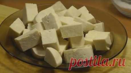 Домашний молодой сыр, старый дедовский способ 10 минут на приготовление
