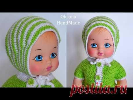 Чепчик крючком. Мастер класс. Children's crochet hat