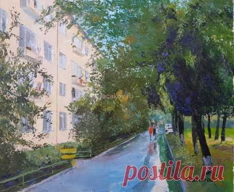 Двор на Одесской улице - Официальный сайт художника Игоря Ясакова