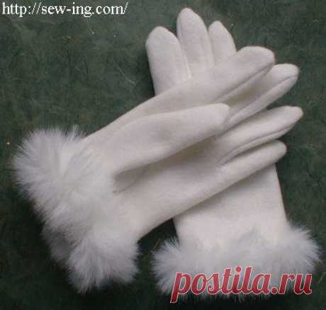 Как самим сшить перчатки