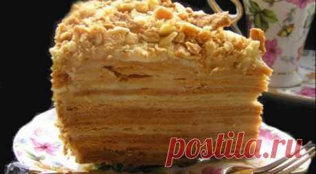 "Cake Napoleon \""wet\"" on Gastronom.ru"