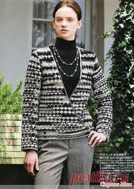 Motley jacket with a smell on a button. Hook. - KNITTED FASHION + FOR NOT MODEL LADIES - the Country of Mothers