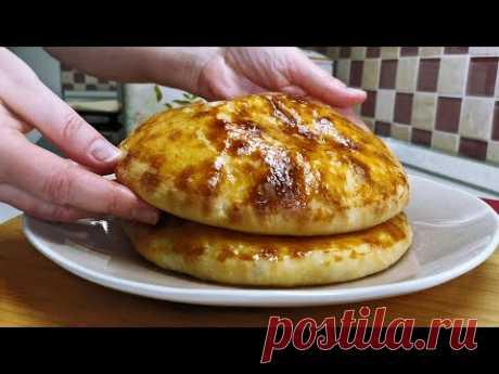 Готовлю ЛЕПЕШКИ исключительно так! ХАЧАПУРИ с сыром и зеленью, рецепт без вымешивания теста руками