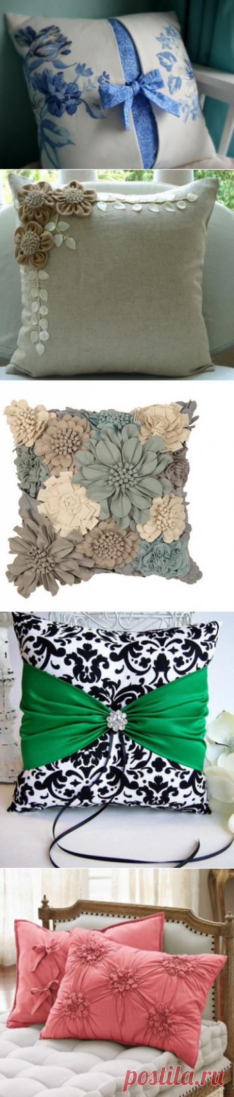 21 восхитительная идея создания декоративных подушек… Это под силу даже тем, кто не умеет шить!
