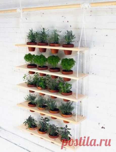 Вертикальная полка для цветов — Сделай сам, идеи для творчества - DIY Ideas