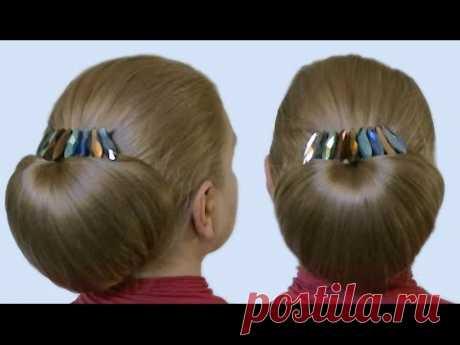 Прическа Бабетта как Сделать Своими Руками Видео Урок  Quick Hairstyle Babette Tutorial