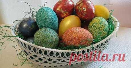 Как покрасить яйца рисом за пару минут. Красиво и необычно - Все самое интересное! Сделать красивые пасхальные яйца вам поможем обычная краска и рис! Сделать такие...