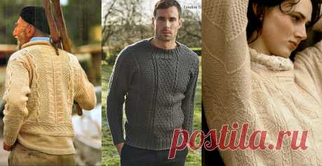 Вяжу спицами мужской ганзейский свитер без единого шва | Всё лучшее - маме | Яндекс Дзен