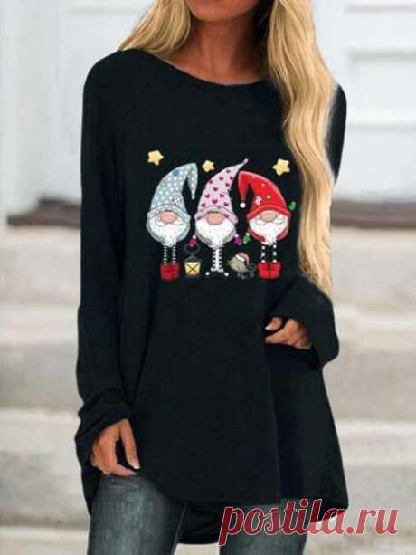 Повседневная Круглый Шеи Рубашки & Блузки&Рубашки – glamtome