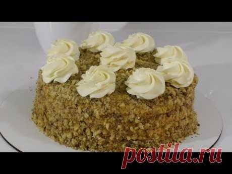 ОРЕХОВЫЙ ТОРТ Очень простой рецепт торта