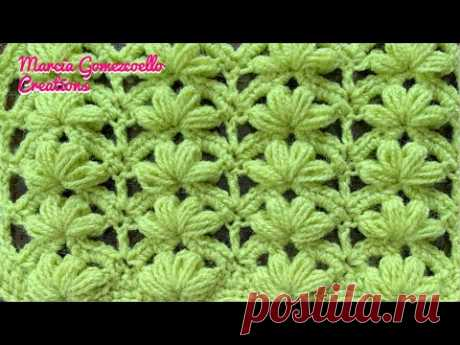 TEJIDOS A CROCHET: Flores Puff/ HOW TO CROCHET: Puff Flowers