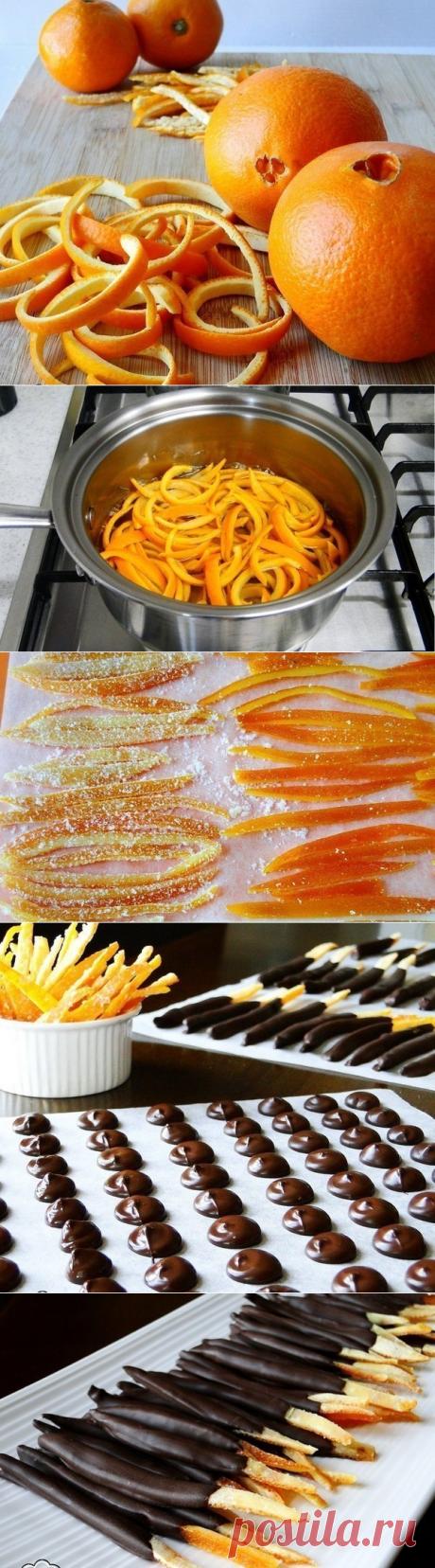 Как приготовить апельсиновые палочки в шоколаде - рецепт, ингридиенты и фотографии