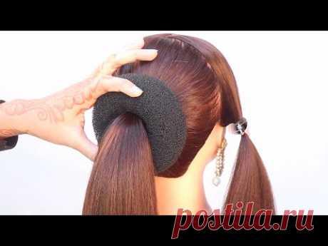 super antique low bun hairstyle for bridal | party hairstyle | juda hairstyle | beautiful hairstyle