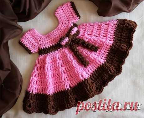 Платье и сарафан для девочек спицами или крючком - Результаты из #10