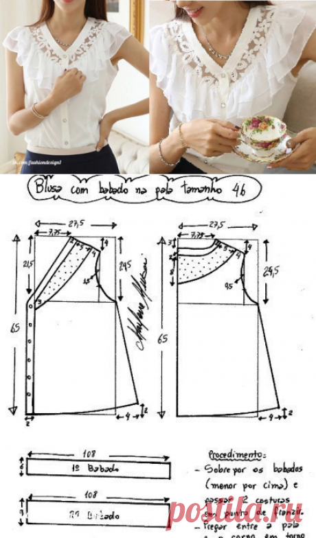 Design of clothes, pattern and sewing
