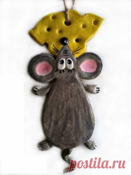 Как сделать крысу/ мышку из соленого теста?