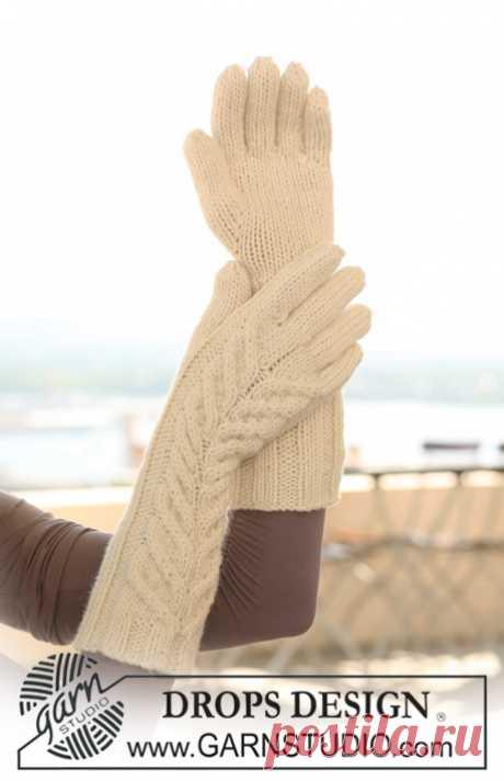 Длинные перчатки с косами - блог экспертов интернет-магазина пряжи 5motkov.ru