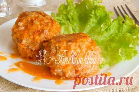 Тефтели из свинины с рисом Это очень простой рецепт второго блюда, который обязательно пригодится любой хозяюшке.