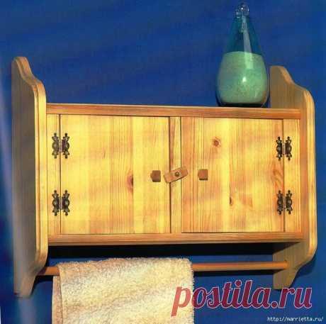 Мебель своими руками. Шкафчик с дверцами для ванной комнаты.