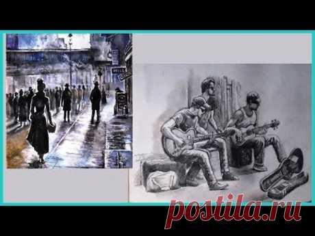 Как рисовать людей для начинающих / Как рисовать людей красками