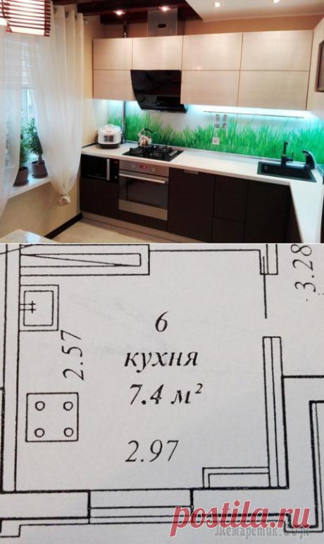 Небольшая и очень стильная кухня — Роскошь и уют