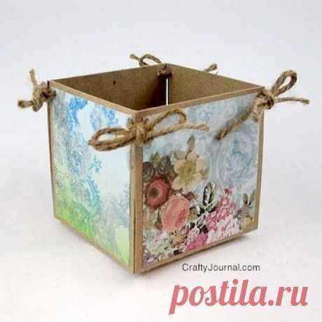 Мастерим коробочку для белья:) Легко и просто