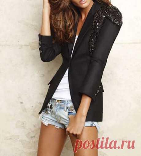 пиджак с нарядным декором / Жакеты / Модный сайт о стильной переделке одежды и интерьера