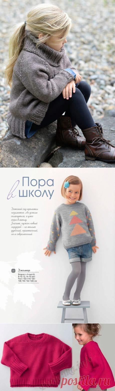 Детский свитер спицами для девочки (мастер-класс)