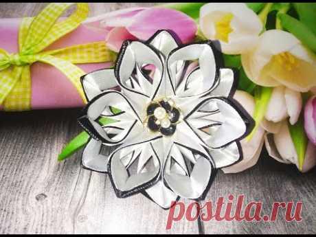Красивые цветы из лент. Как сделать цветы из лент.