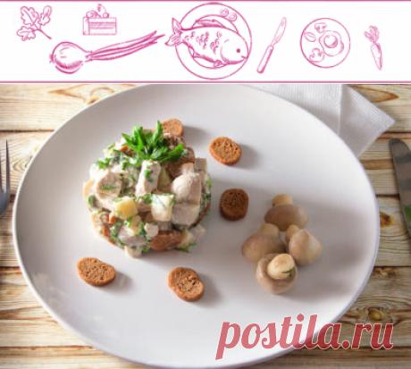 Салат пикантный с сухариками | Пошаговый рецепт от https://prostovkysno.com/
